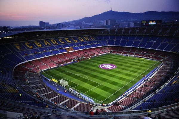 BARCELONA, SPAIN - MARCH 03:  A general view of the Camp Nou Stadium prior to the La Liga match between FC Barcelona and Sporting Gijon on March 3, 2012 in Barcelona, Spain. FC Barcelona won 3-1.  (Photo by David Ramos/Getty Images)